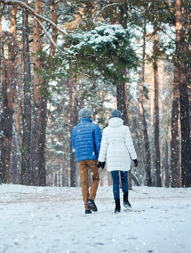 talviulkoilu, lumikenkäily, hiihto, luistelu