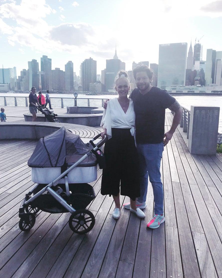 """Krista ja Kevin muuttivat ennen vauvan syntymää Manhattanilta Long Island Cityyn. Kuva: <span class=""""photographer"""">Kristan kotialbumi</span>"""