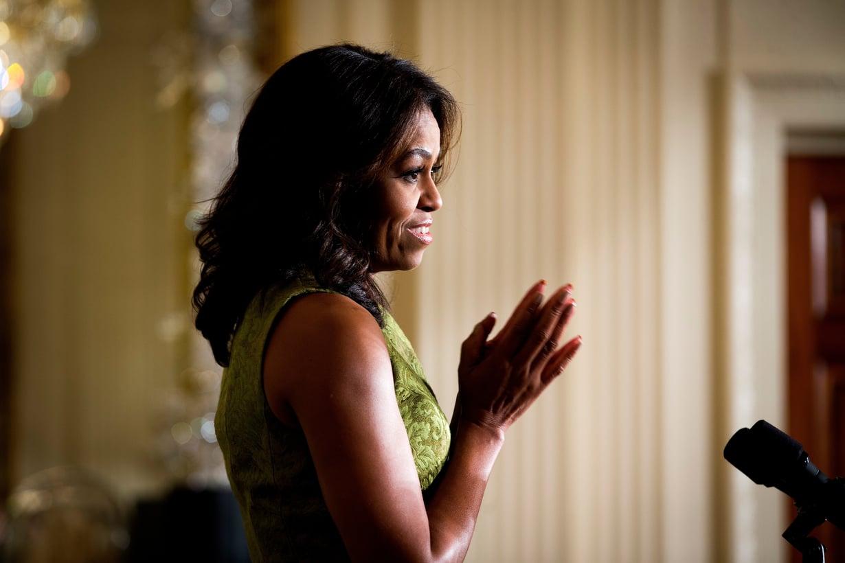 Michelle Obama kertoo lapsettomuudesta myös tällä viikolla julkaistavassa elämäkertakirjassaan. Kuva: MVPhotos