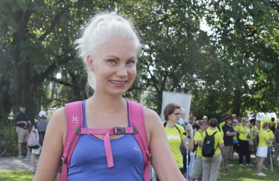 Apple a Day -blogin pitäjä Sanna Malista odottaa yhdeksän kilometrin lenkki.