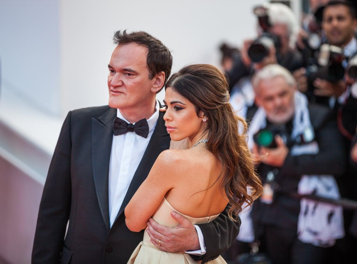 Quentin Tarantino ja Daniella Tarantino Cannesin elokuvajuhlilla 2019.