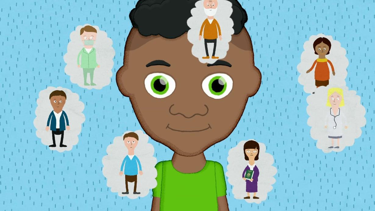 Kehoni on minun -animaatiosarja kertoo lapselle ymmärrettävällä tavalla, miten aikuisen väärä teko ei ole missään tilanteessa lapsen vika. Valmentaja, eno tai kiva naapuri ei saa leikkiä sukupuolielimillä lapsen kanssa. Kuva on Kehoni on minun -sarjasta, joka on nähtävissä Ylen nettisivuilla.
