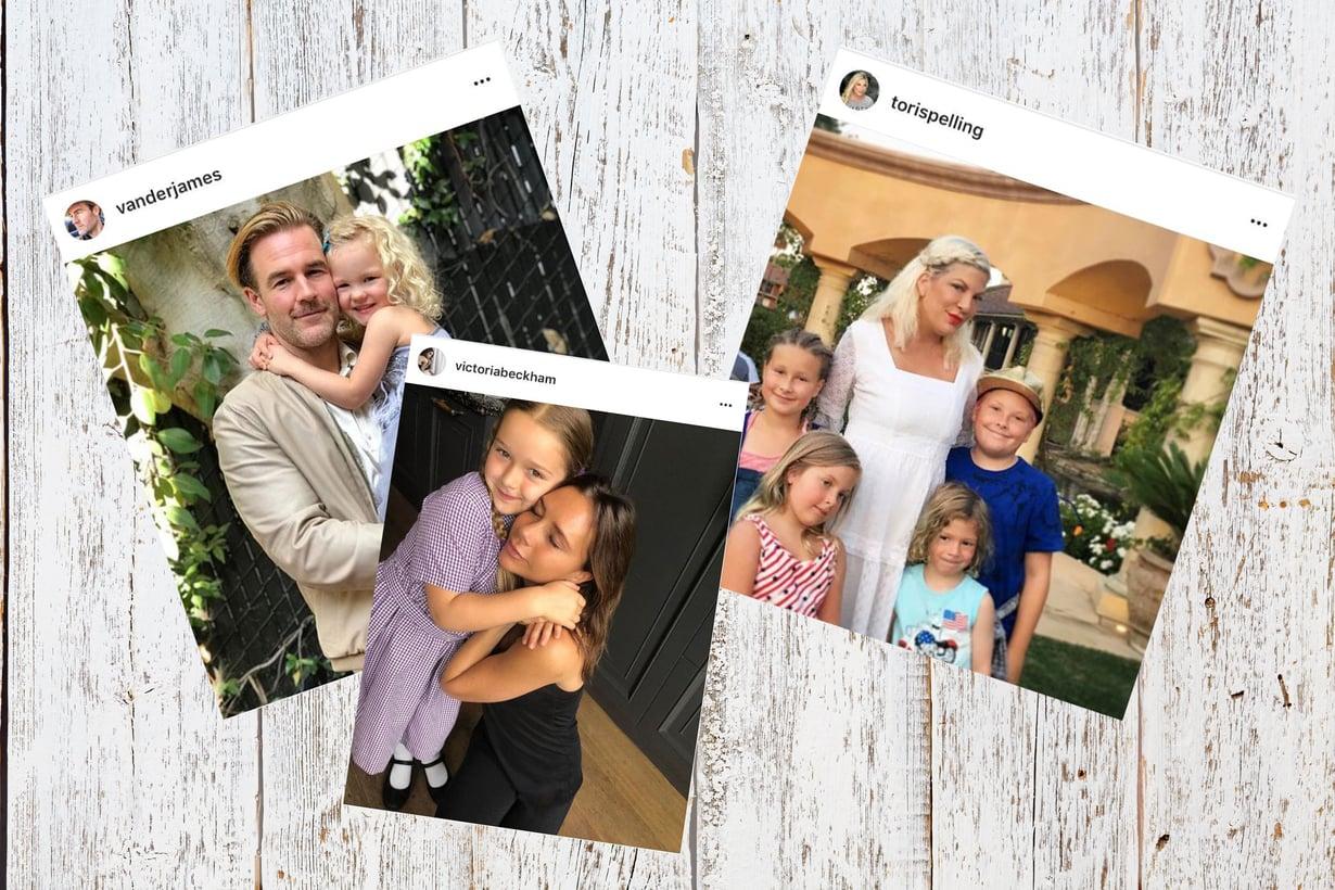 James Van Der Beek, Victoria Beckham ja Tori Spelling ovat konkarivanhempia. Kuva: Vauvan ja Meidän Perheen toimitus