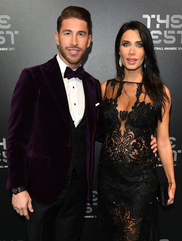 """Sergio Ramos ja Pilar Rubio osallistuivat Lontoossa järjestettyihin Fifan juhlallisuuksiin loppuvuodesta 2017. Kuva: <span class=""""photographer"""">MVPhotos</span>"""