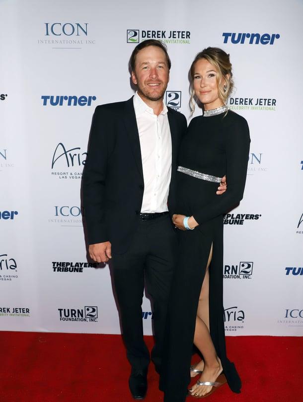 Bode Miller ja Morgan Beck Miller edellisen raskauden aikana keväällä 2018.