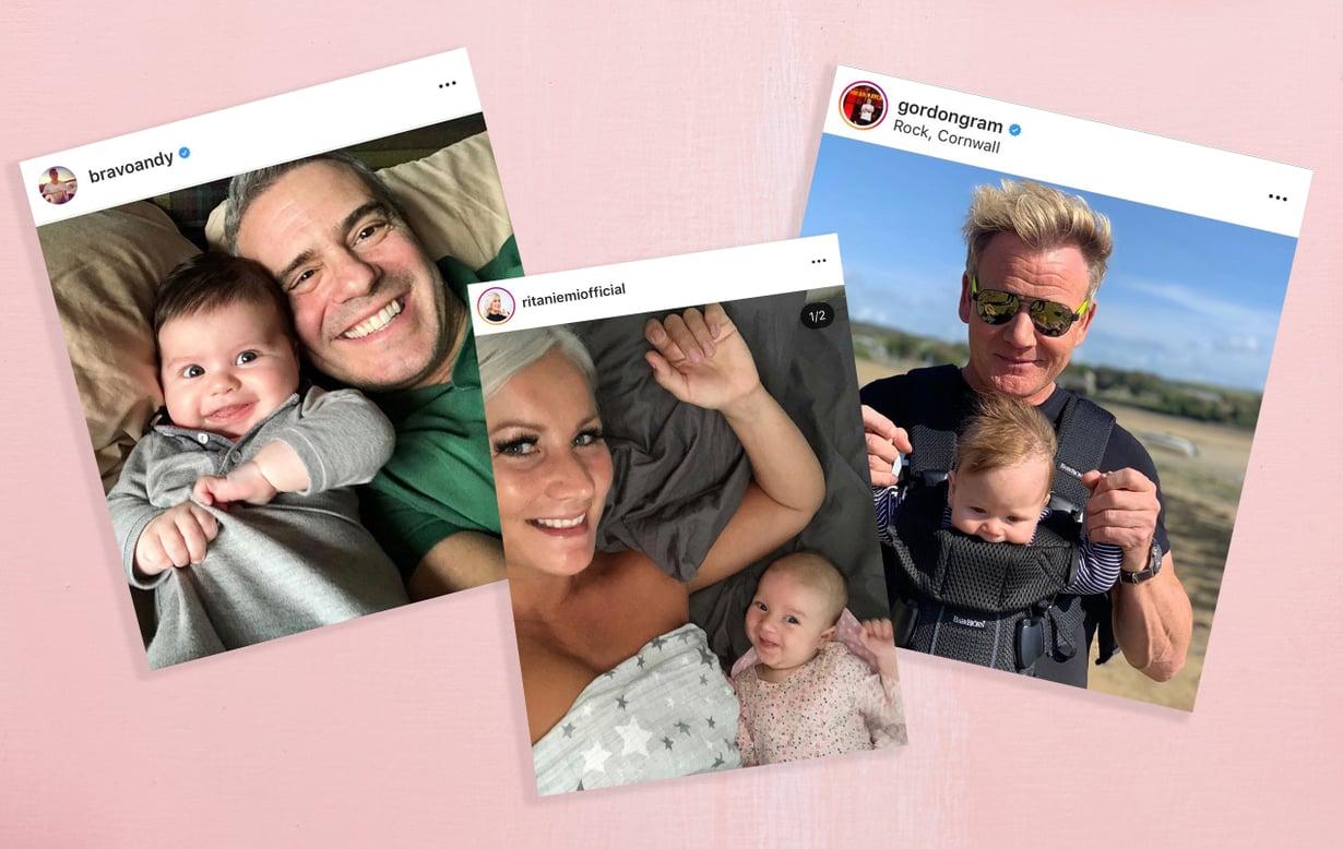 Muun muassa Andy Cohen, Rita Niemi ja Gordon Ramsay iloitsivat onnellisesta perhetapahtumasta tänä vuonna. Kuva: Instagram, Anna Huovinen