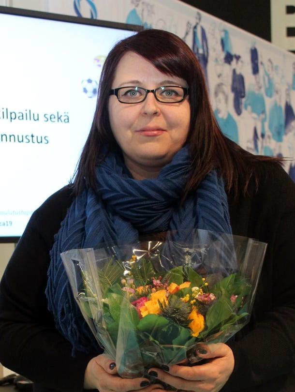 """Jonna valittiin tänään Arjen valo -palkinnon saajaksi. Kuva: <span class=""""photographer"""">Leena Herlevi-Valtonen</span>"""