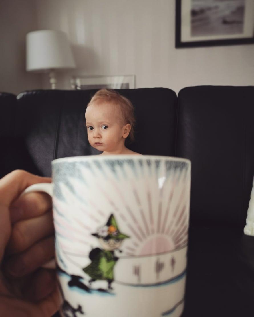 """Elämältä kaiken sain -bloggaaja osallistui Instagramissa #munkuppikahvia haasteeseen tällä söpöllä kuvalla. Kuva: <span class=""""photographer"""">Elämältä kaiken sain -blogi</span>"""