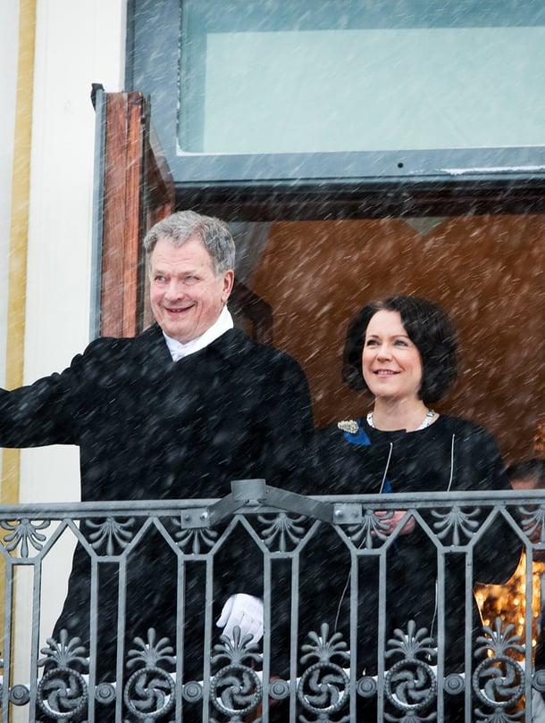"""Presidentti Sauli Niinistön ja hänen puolisonsa Jenni Haukion poika sai nimekseen Aaro Veli Väinämö. Kuva: <span class=""""photographer"""">Juhani Niiranen.</span>"""