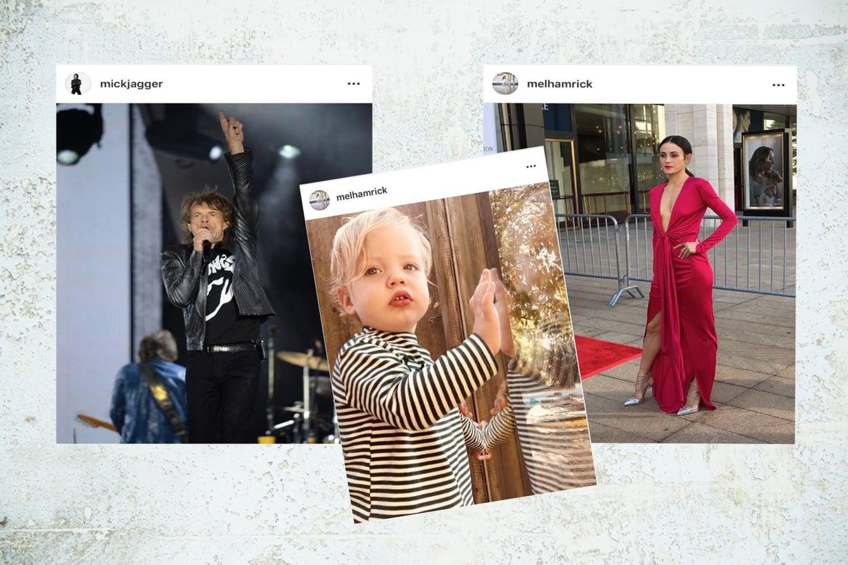 Mitkä pusuhuulet! Mick Jaggerin, 75, ja Melanie Hamrickin, 31, lapsi on kuin ilmetty isänsä. Kuva: Vauva.fin toimitus