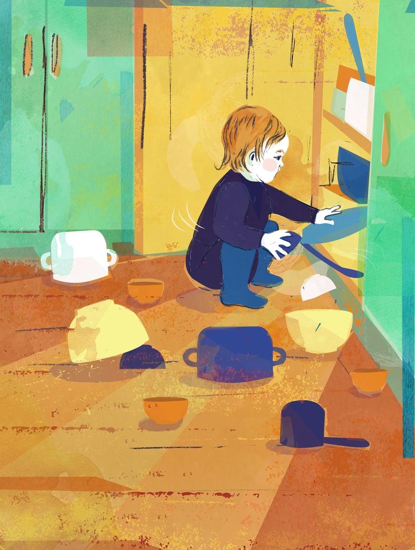 Mitäs kivaa täältä löytyy? Taapero haluaa tehdä keittiössä samoja juttuja kuin vanhemmatkin.