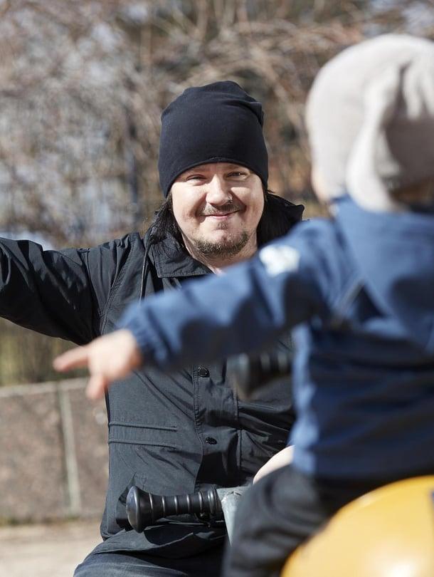 """Aki Tykin poika Leevi syntyi pitkän odotuksen jälkeen. Kuva: <span class=""""photographer"""">Juha Salminen</span>"""